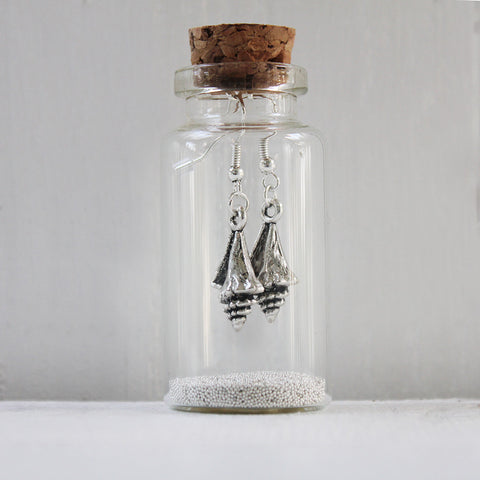 Seashell Earrings in a Bottle (199)