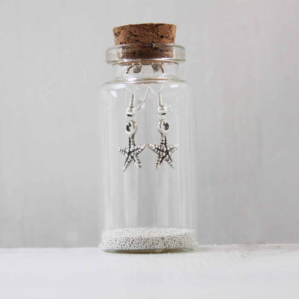 Little Starfish Earrings in a Bottle (104)
