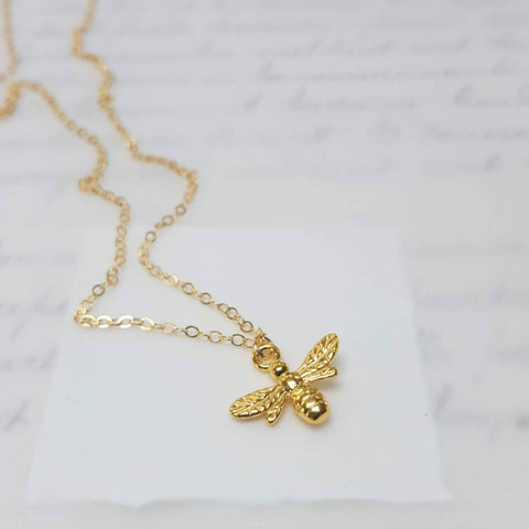 Gold Bee Necklace (163)