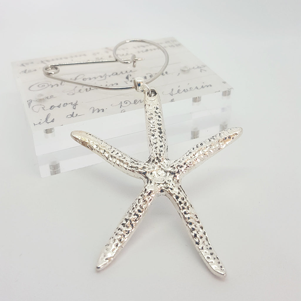 Abstract Starfish Swirl Pin Brooch (77)