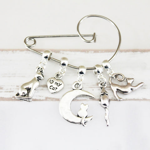 Cat Lovers Swirl Brooch (57)