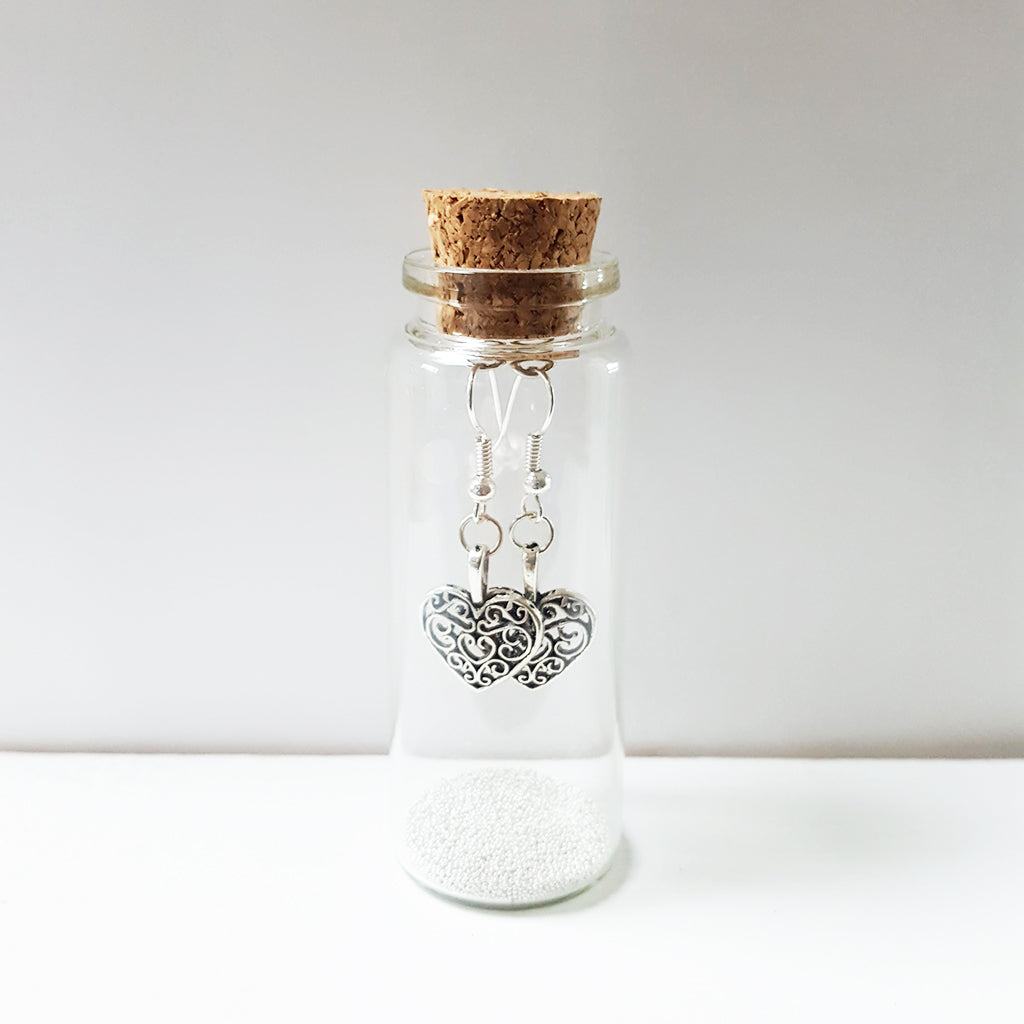 Filigree Heart Earrings in a Bottle (35)
