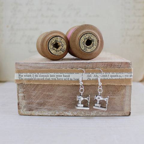 Sewing Machine Earrings in a Bottle (176)