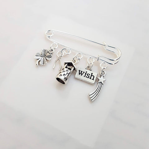 Bring Me A Wish And Good Luck Brooch (46)