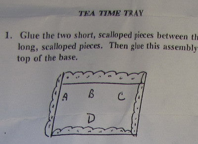 One Inch Scale Tea Time Tray Kit