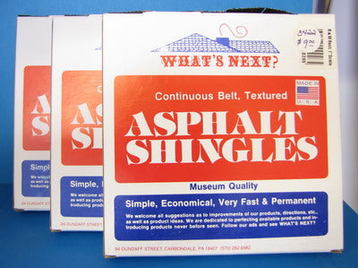 One Inch Scale Asphalt Shingles
