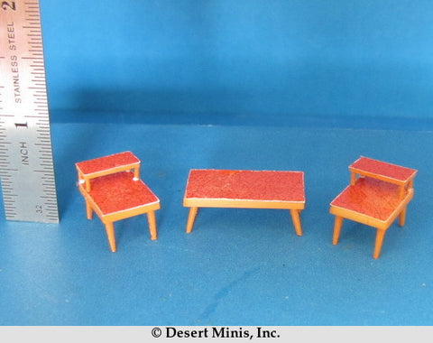 KIT - 1950's Style (mid-century) Coffee Table and End Tables