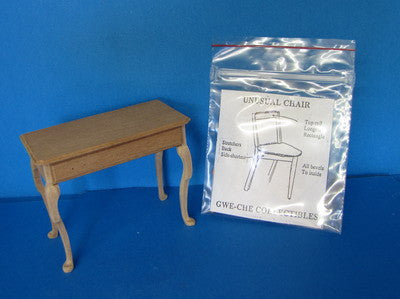 "One Inch Scale Writing Desk with ""Unusual Chair"" kit"