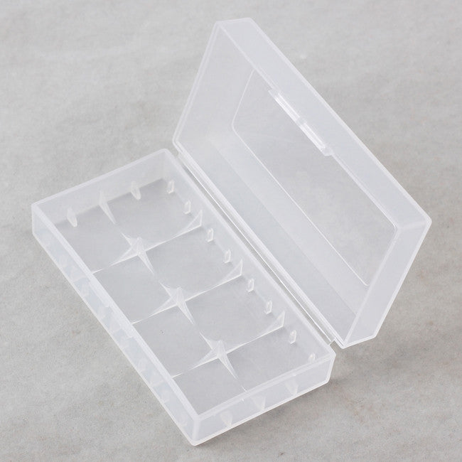 Plastic 18650 battery case
