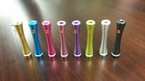 45 mm long drip tip - anodized aluminum