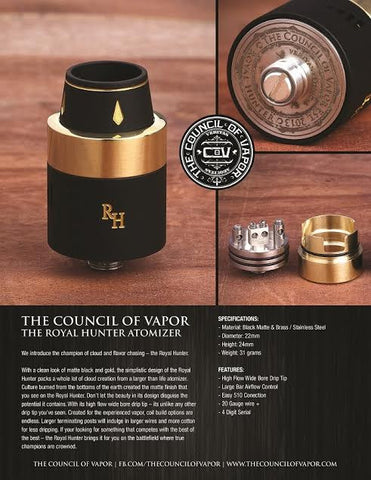 Authentic Royal Hunter RDA by the council of vapor