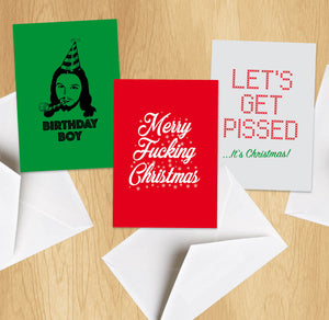 Horrible Christmas Cards - Pack Of 6 Seasonal Funny Cards