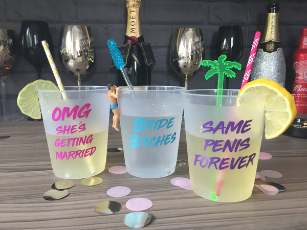 Hen Party Drinking Cups - Pack of 12 - 3 funny designs