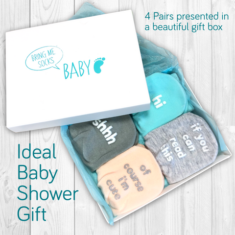 Baby sock gift set - Cute hidden messages
