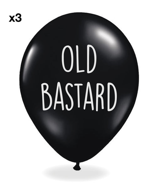 Sass 'Sweary' Balloons (For Him) - Pack Of 12 Funny Offensive Balloons