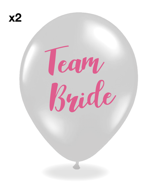Hen Party Balloons Pack of 10 - Silver and Pink