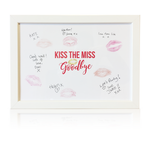 Kiss The Miss Goodbye - Framed Hen Party Keepsake for the Bride to be