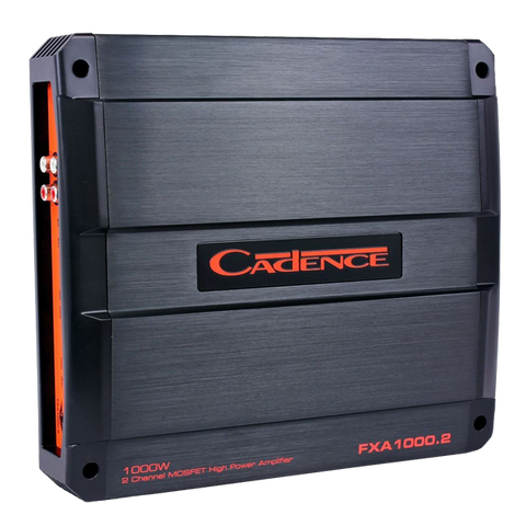 Cadence Flash FXA1000.2 1000 Watt 2-Channel Class A-B Car Audio Amplifier Amp