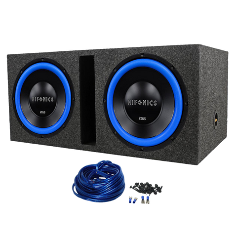Package (2) Hifonics ZW12D4 12 Dual 4-Ohm 1200 Watts Peak600 Watts RMS Car Subwoofers
