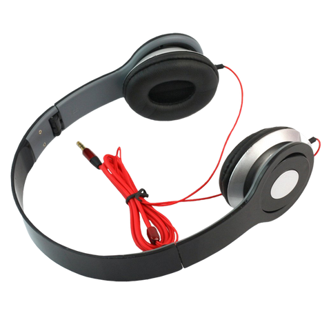 RHX New Black Headphone Stereo Headset Earphone Foldable For DJ PSP MP3 MP4 PC