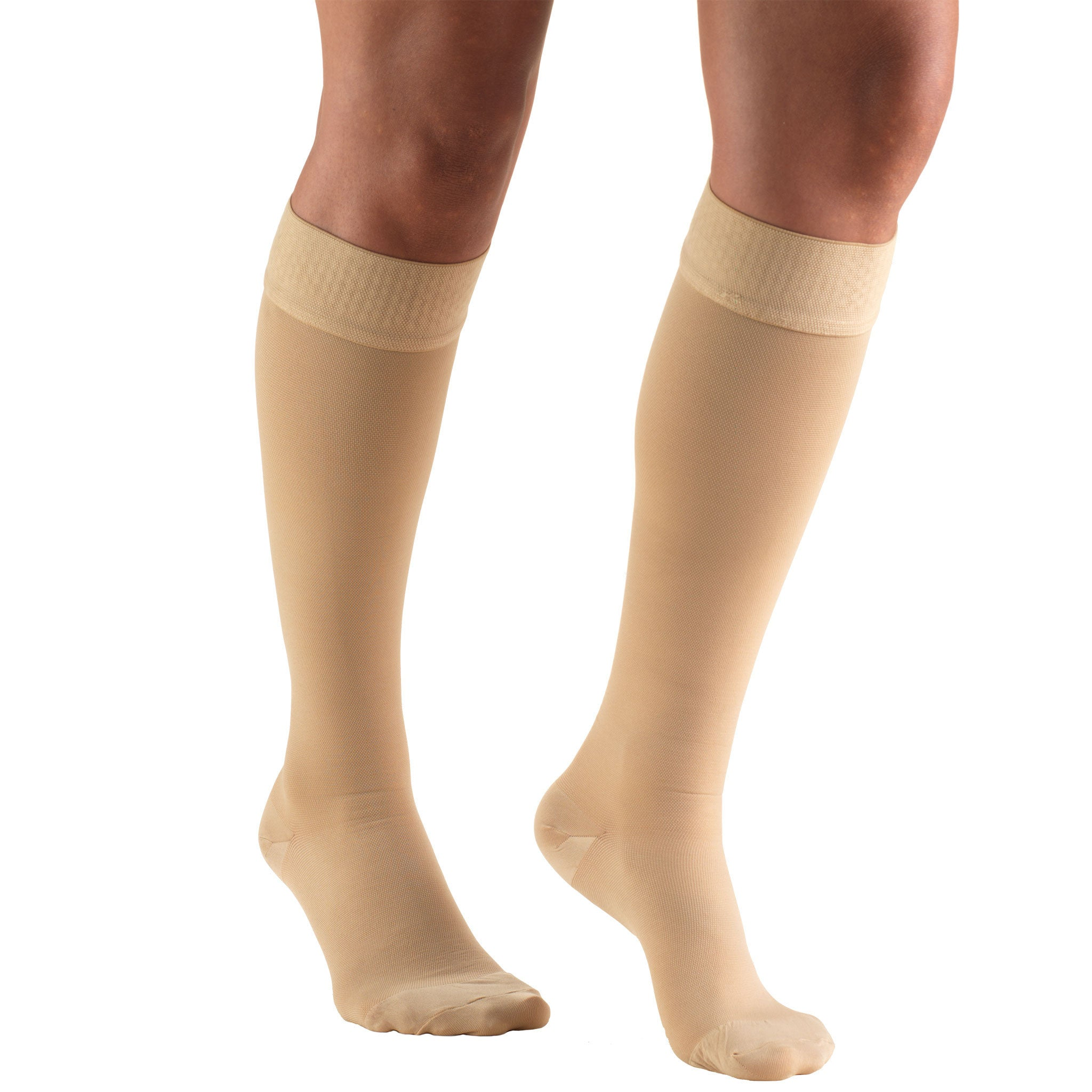 191d4ae5e8e Truform 8864 Below Knee Dot-Top 20-30 Compression Beige –  CompressionStocking.co