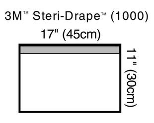 3M 1000DISP BX/10 STERI-DRAPE TOWEL DRAPE WITH ADHESIVE STRIP, 7-5/8IN X 11-3/4IN
