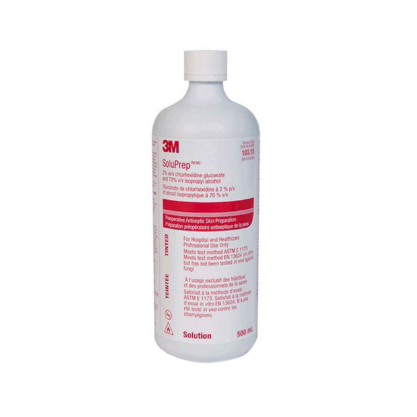 3M 10314 (CS/12) EA/1 SOLUPREP ANTISEPTIC SOLUTION 2%, CHLORHEXIDINE GLUCONATE 70% I SO PROPYL ALCOHOL.-500ML