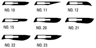 AMG 500-322 BX/100  AMG SCALPEL BLADES NO.22 - CARBON STEEL-