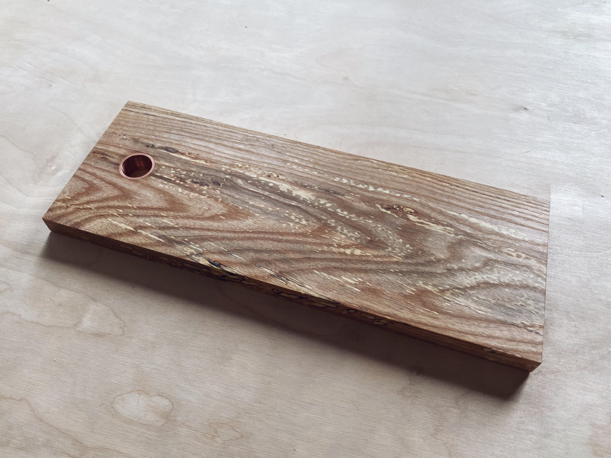 Spalted Ash Board - Copper Insert