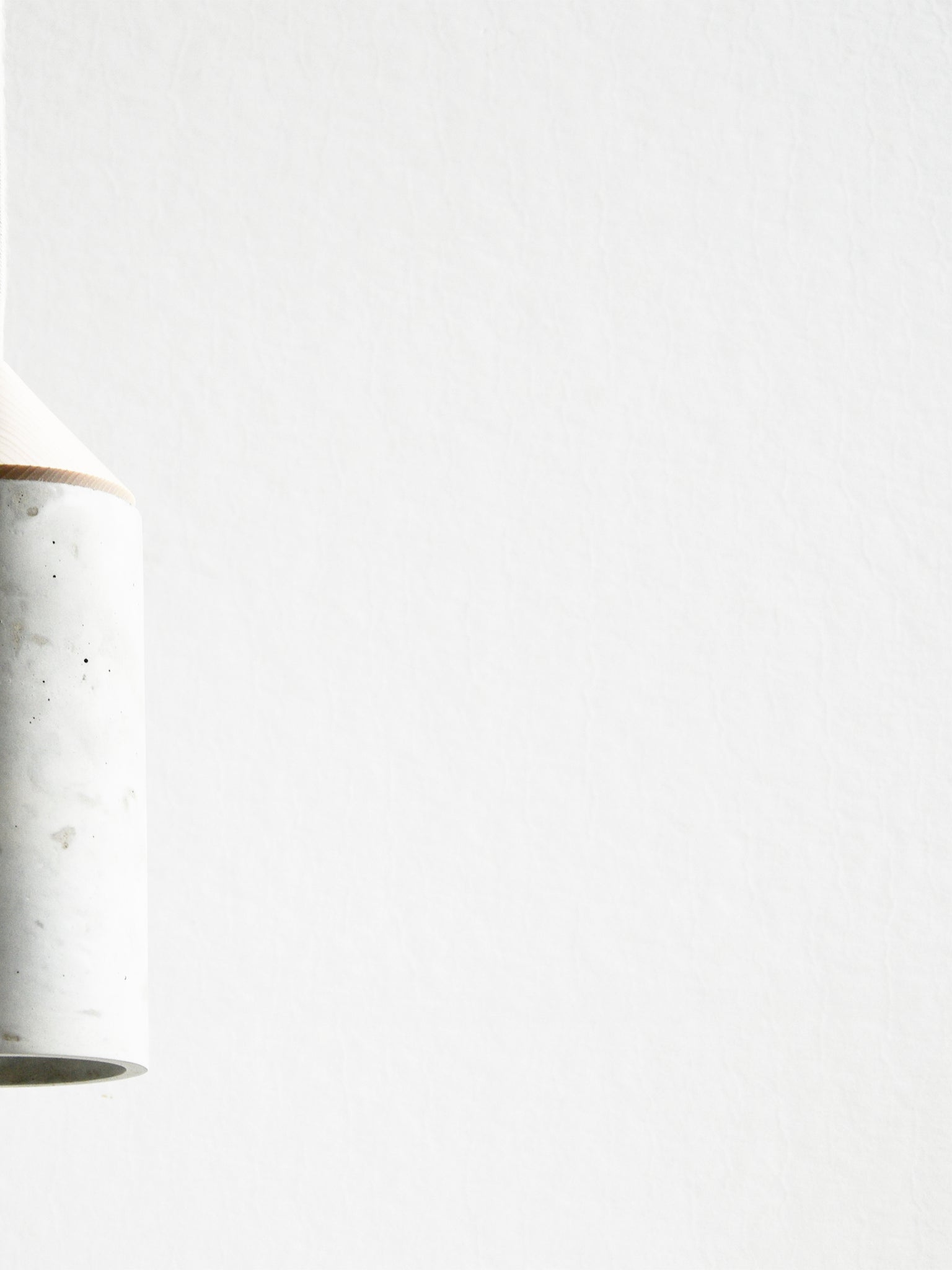 Concrete and Ash Pendant Light