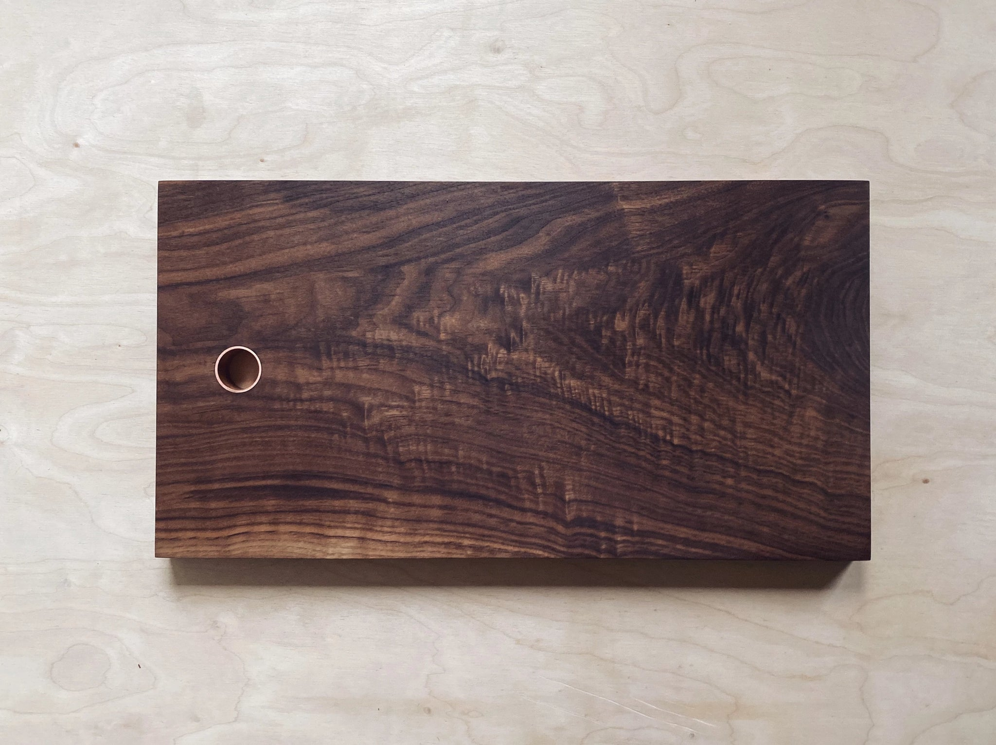 Rippled Walnut Board - Copper Insert