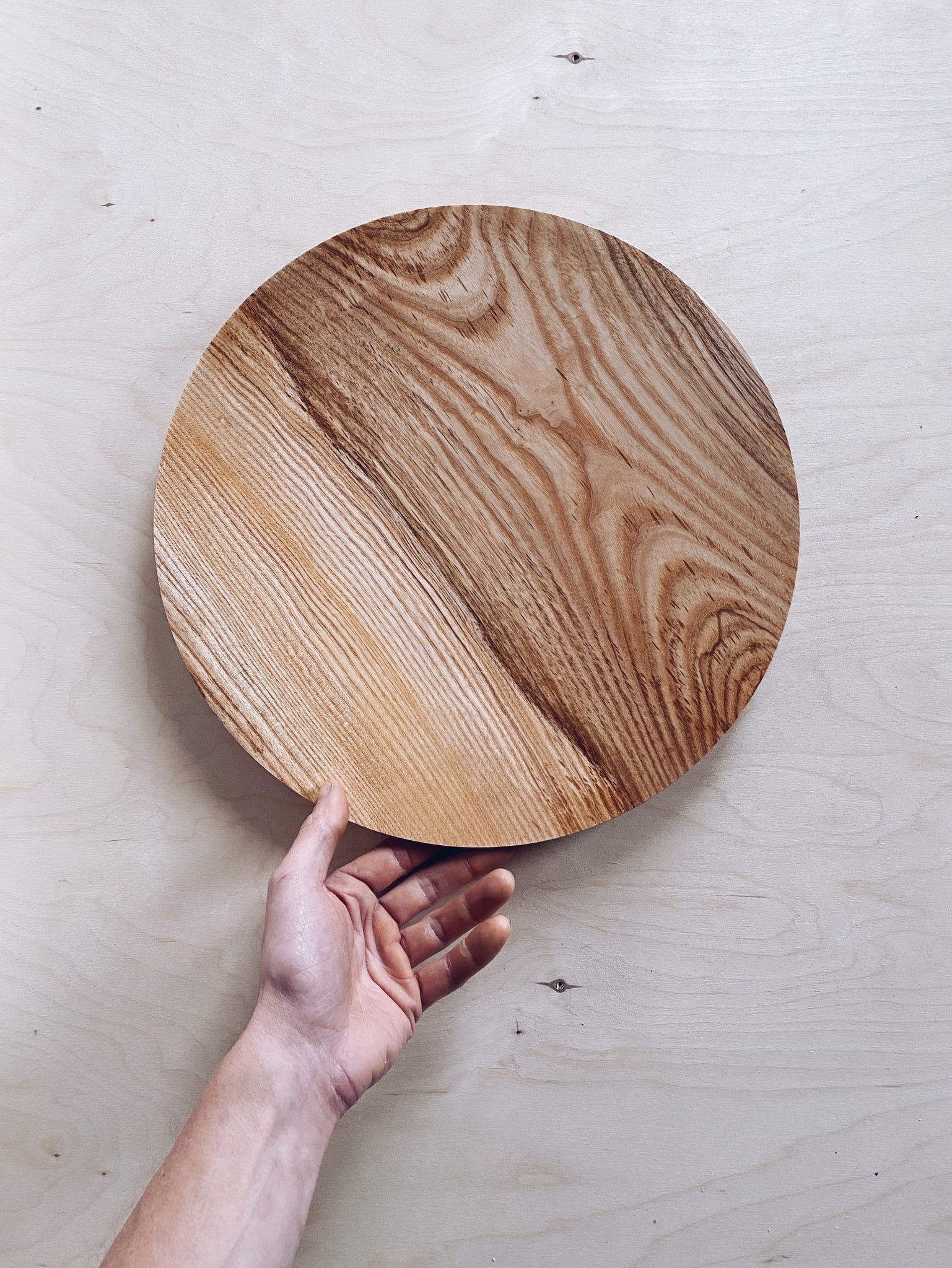 Large Plate - in Olive Ash