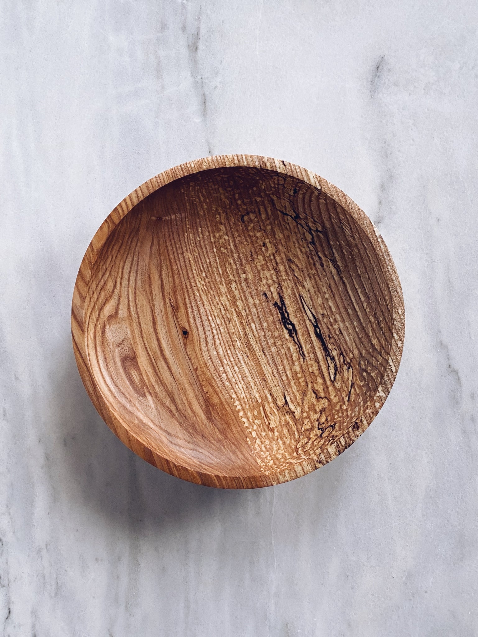 Bowl - in Spalted Olive Ash