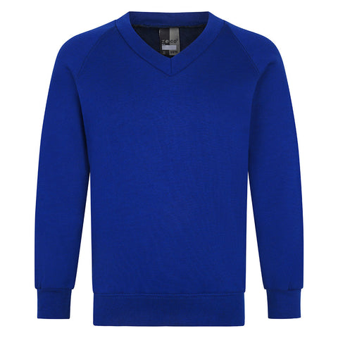 V-Neck Sweatshirt Plain
