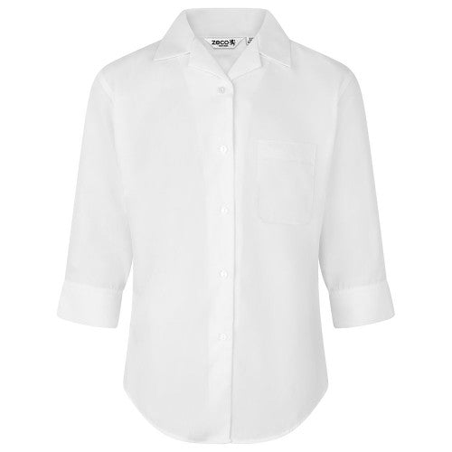 Girls' Blouse - Revere collar