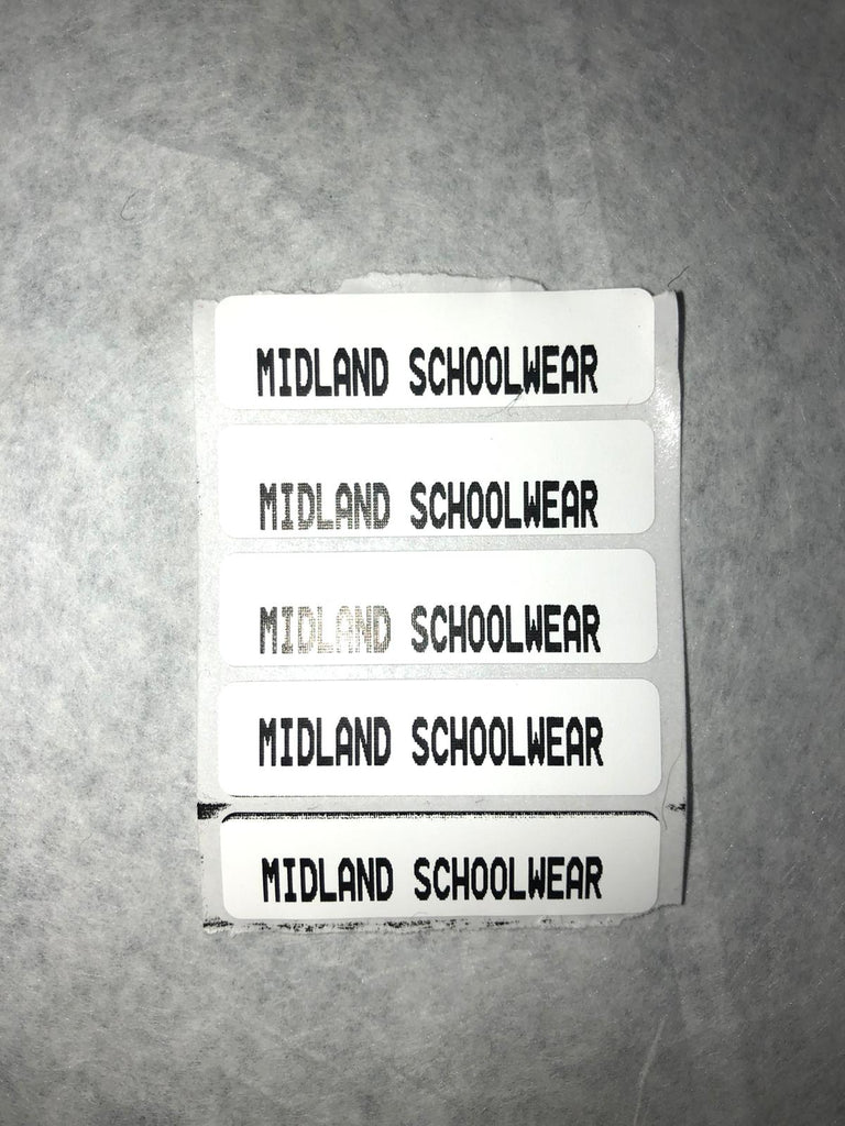 Printed Iron-On Labels
