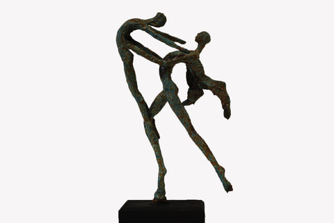 Angel and Boy sculpture - Emmanuel Okoro