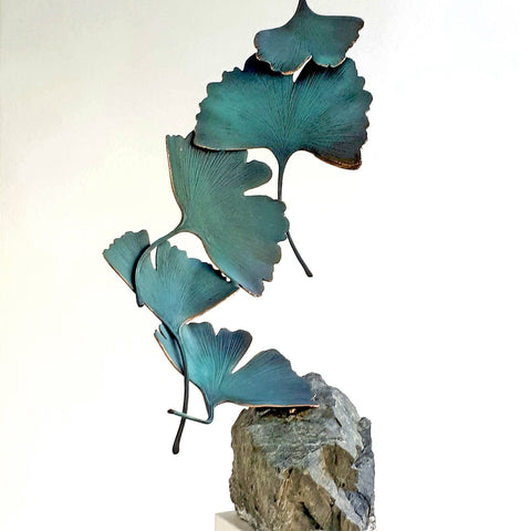 Bronze Gingko 5 leaves - Kuno Vollet