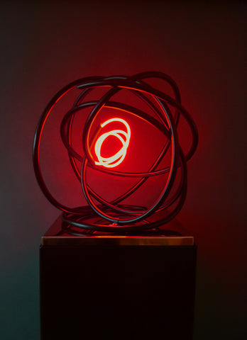 Small Red Neon Orb - Mark Beattie