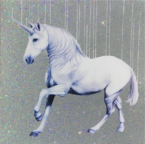Fuck Reality – Holographic Silver (Mini Print) - Louise McNaught