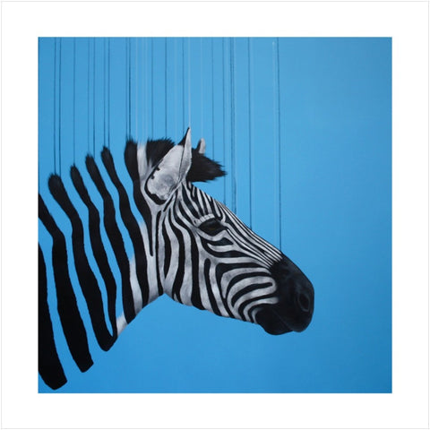 Fragmented Freedom Blue - Louise McNaught