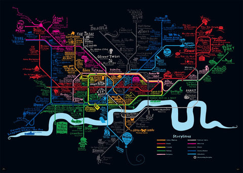 Storylines London Tube Map - Dex