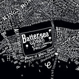 Typography Street Map of London Black - Dex