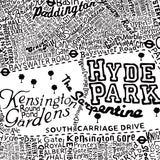 Typography Street Map of London - Dex