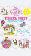 FESTIVAL STICKER SHEETS