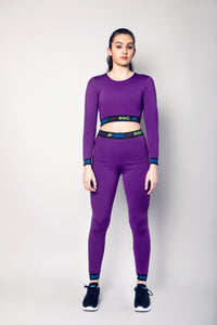 Physical Purple Passion Adult Long Sleeve Crop