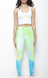 Blue Tye Dye Pants with White Name