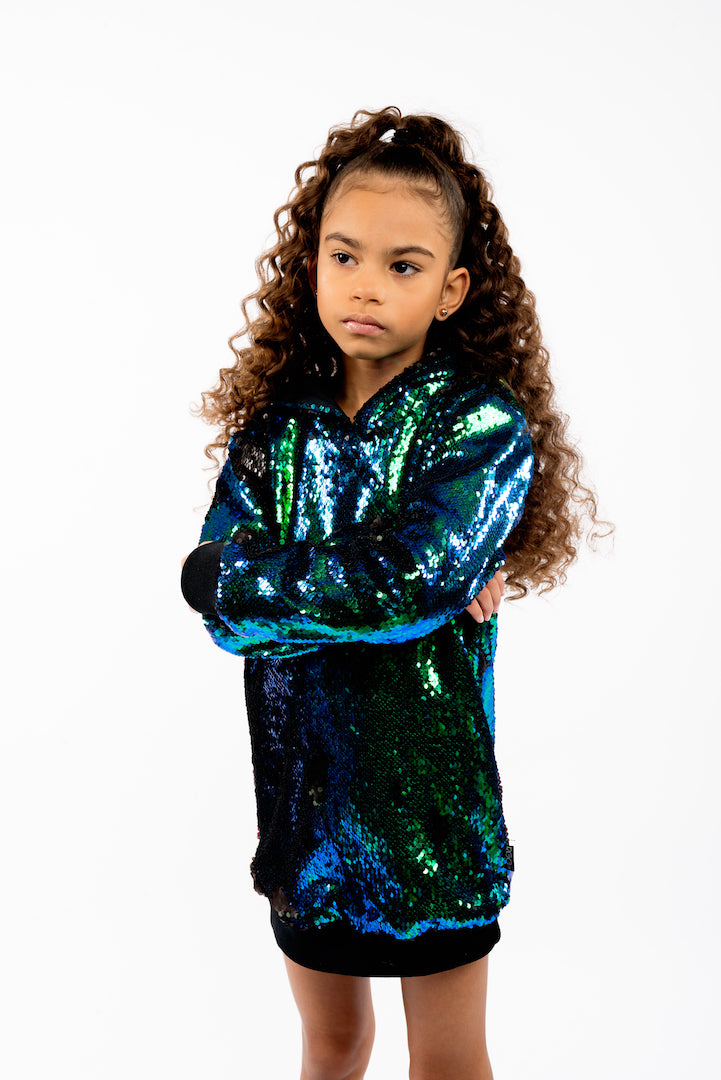 Sequins Oversized Hoodie For Kids