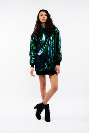 Sequins Oversized Hoodie For Adults