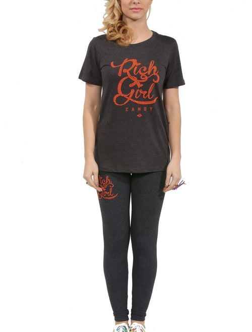RGC Charcoal Leggings with Logo